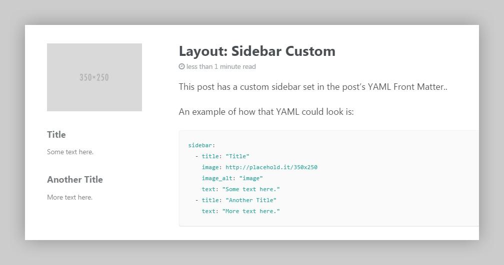 custom sidebar content example