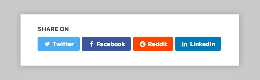 Reddit social share link button